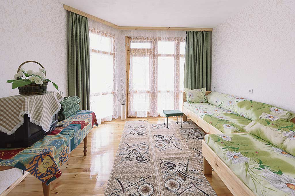Зелената стая за гости на семейство Ингови в курортен град Сандански